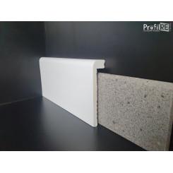 Coprimarmo bianco in polimero anti umidità bordo tondo mm100x25