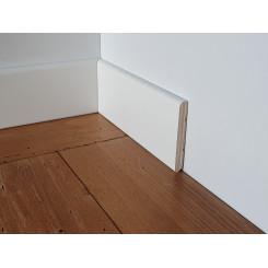 Battiscopa bianco economico prezzo basso laminato bianco in legno bordo semi tondo