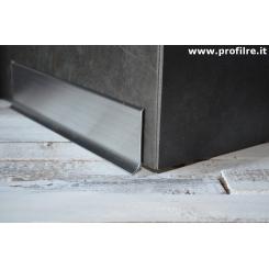 Battiscopa zoccolino in alluminio lucido spazzolato mm100x11