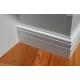 zoccolino di legno alto laccato bianco sagomato Varese mm120 x mm15