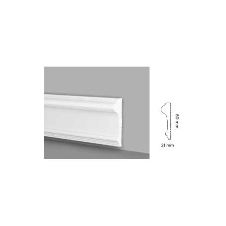 prjc168re profilo duro pronto all'uso da parete o battiscopa