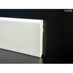 battiscopa bianco ral 9010 bordo tondo mm 80 spessore mm 10 impiallacciato vero legno