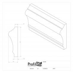 Profilo muro e parete bianco boiserie extra resistente pronto all'uso prjx 72