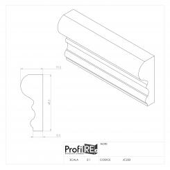 Cornice parete bianca modanatura finale da cm 5 extra resistente pronto all'uso
