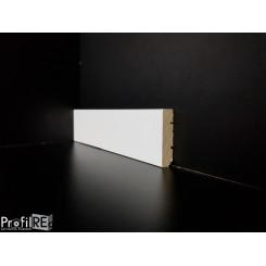 Battiscopa basso bianco moderno 4 cm in legno massello spessore mm 10