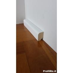 battiscopa in legno basso 3 cm spesso cm 2 a basolino massello laccato bianco