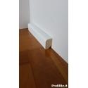 battiscopa in legno basso a basolino in legno massello stondato laccato bianco mm30x20