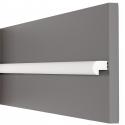 Profilo muro e parete bianco boiserie extra resistente pronto all'uso prjx109
