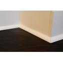profilo cornice da pavimento legno massello laccato bianco alto 2 cm