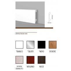 Battiscopa zoccolino semi flessibile impermeabile alto mm 75 diverse finiture stesso prezzo
