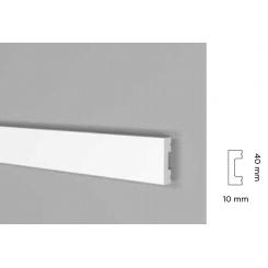 Battiscopa impermeabile alto 40 mm bordo quadro prjx139re spessore mm 10