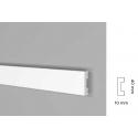 Battiscopa impermeabile alto 40 mm bordo quadro spessore mm 10 benevento new
