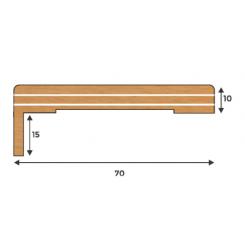 coprifilo mostrina con aletta mm 70 spessore mm15