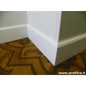 battiscopa zoccolino Torino alto centimetri 10 legno massello bianco RAL 9010