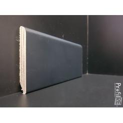 battiscopa laccato nero in legno alto 8 centimetri spessore mm 10