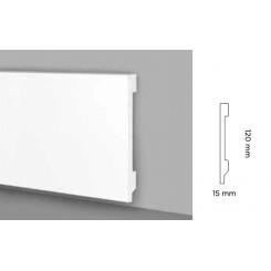 Battiscopa impermeabile alto 120 mm modello Pisa bordo quadro