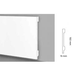 Battiscopa impermeabile alto 150 mm modello Lodi bordo quadro jc313