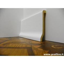 battiscopa in legno zoccolino coprimarmo bianco