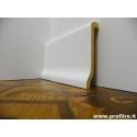 coprizoccolo coprimarmo copri battiscopa in legno laccato bianco alto 11 cm
