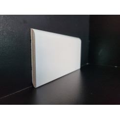 battiscopa bianco ral 9001 legno multistrato bordo tondo alto 8 cm spessore 1 cm