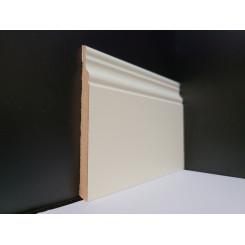 battiscopa inglese bianco ral 9010 da 10 mm di spessore EXTRA RESISTENTE verniciato alto 12 cm