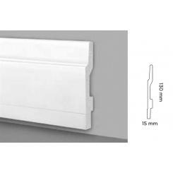 Battiscopa impermeabile Rimini alto 13 cm sagoma Rimini C406 con effetto piedino