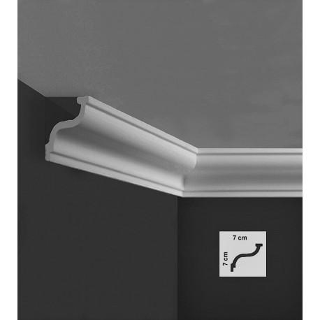Profilo cornice veletta da soffitto 7 cm in polistirene da tinteggiare PRI761