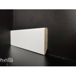 battiscopa zoccolino laccato ral 9016 basso 5 cm moderno in legno