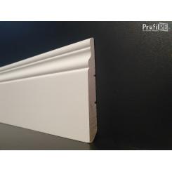 Battiscopa inglese ducale alto 10 cm in legno massello aste lunghezza cm 305 poro semi chiuso colore bianco ral 9010