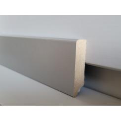 battiscopa effetto alluminio naturale in mdf rivestito alto 4,5 cm