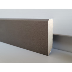 battiscopa effetto titanio in mdf rivestito alto 4,5 cm