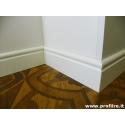 battiscopa zoccolino bianco Roma alto centimetri 10 legno massello laccato