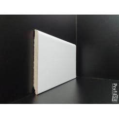 battiscopa zoccolino ral 1013 bianco impiallacciato alto 10 cm bordo tondo