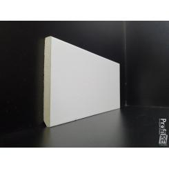 Battiscopa bianco ral 9010 squadrato anti umidità in mdf idrofugo alto cm 4