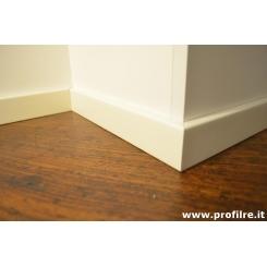 battiscopa bianco legno moderno quadro basso alto 5 cm