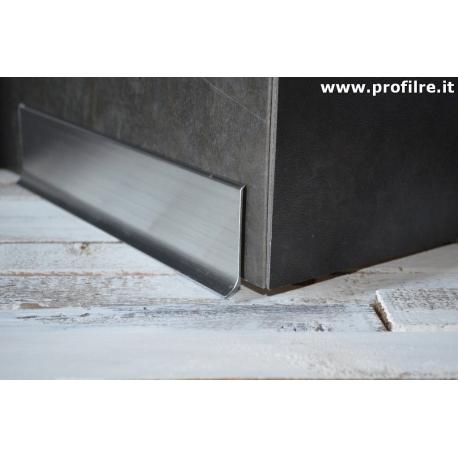 battiscopa in alluminio lucido spazzolato mm80 x mm11