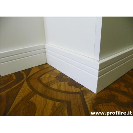 battiscopa zoccolino bianco Catania alto centimetri 12 legno massello laccato