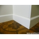 battiscopa in legno laccato bianco alto sagomato inglese bologna mm120x13