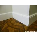 battiscopa zoccolino bianco Lecce alto centimetri 12 legno massello laccato