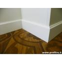 Battiscopa Napoli legno massello sagomato modanato alto 12 centimetri