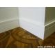 battiscopa alto Bari in legno squadrato moderno laccato bianco cm 14