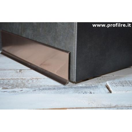 battiscopa in alluminio rame mm80x11