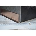 battiscopa zoccolino alluminio rame lucido mm80x11
