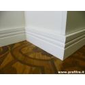 battiscopa in legno laccato bianco sagomato inglese firenze alto mm140x13