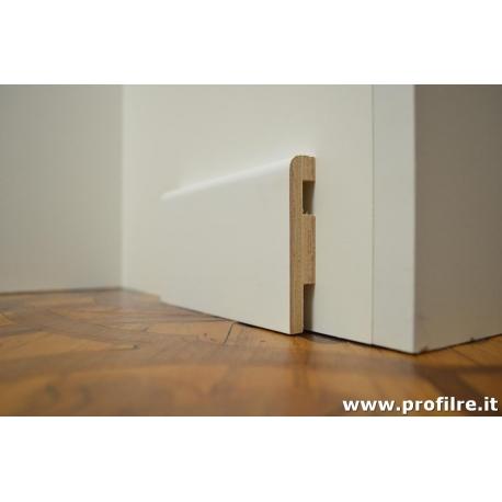 battiscopa zoccolino passafilo passafili in legno bianco