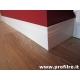 battiscopa legno laccato bianco ducale inglese alto 14 centimetri foto 2