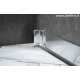 battiscopa alto in alluminio lucido mm100x11
