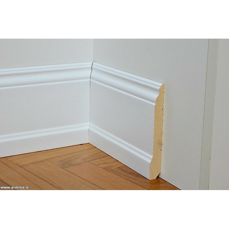 legno, mdf, alluminio e polimero > 01-battiscopa zoccolino bianco alto ...