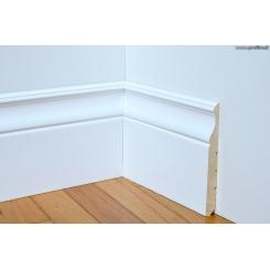 battiscopa legno Cagliari in stile laccato bianco alto 14 cm