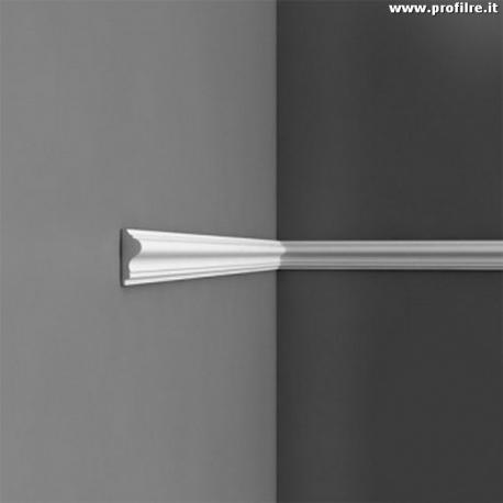 Boiserie bianca cornice profilo da parete pr8030re mm40 x mm15 for Cornici muro
